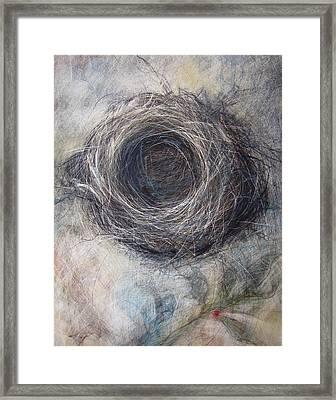 Winter Nest Framed Print by Tonja  Sell