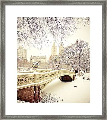 Winter - New York City - Central Park Framed Print by Vivienne Gucwa