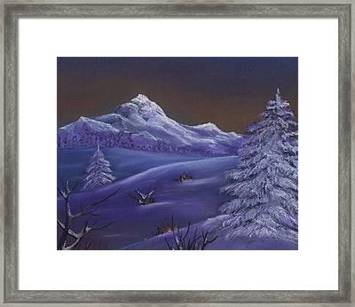 Winter Night Framed Print by Anastasiya Malakhova