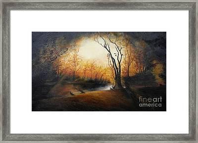 Winter Night Framed Print by Sorin Apostolescu