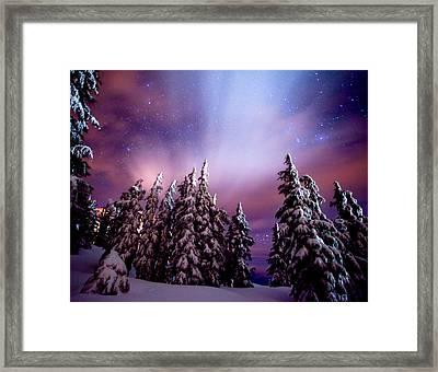 Winter Nights Framed Print by Darren  White