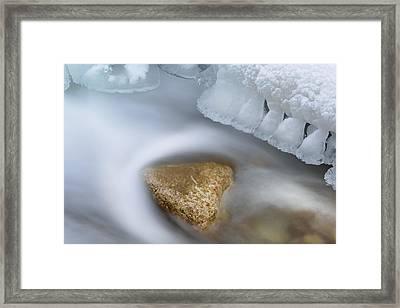 Winter Orangeville Creek Framed Print by Dean Pennala