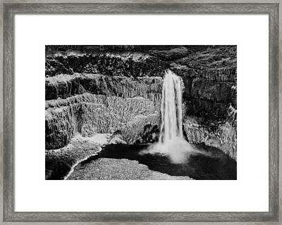 Winter Palouse Falls 3 Framed Print by Mark Kiver