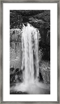Winter Palouse Falls Vertical Framed Print by Mark Kiver