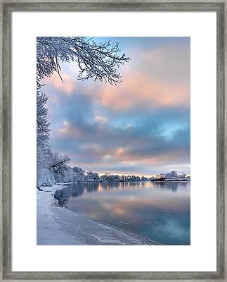 Winter Quiet Framed Print by Leland D Howard