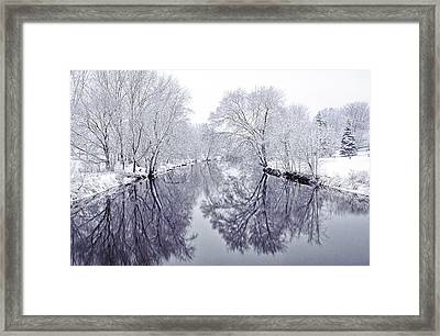 Winter Reflections Framed Print by Andrew Soundarajan