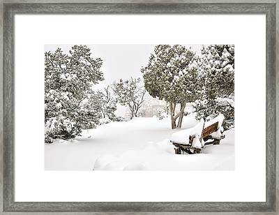 Winter Rest Stop Framed Print by Lester Sarmiento