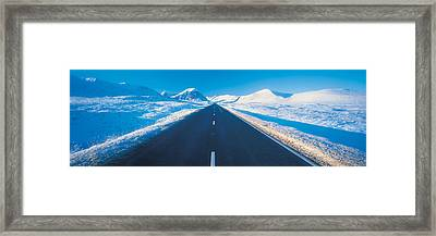 Winter Road Glencoe Scotland Framed Print by Panoramic Images