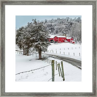 Winter Road Square Framed Print by Bill Wakeley