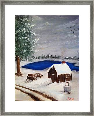 Winter Framed Print by Roy J Moyle