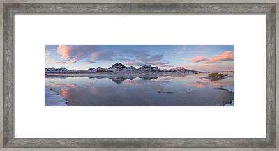 Winter Salt Flats Framed Print by Chad Dutson