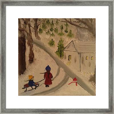 Winter Scene 1 Framed Print by Angel Griffin