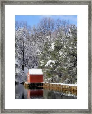 Winter Scene  Framed Print by Karol Livote