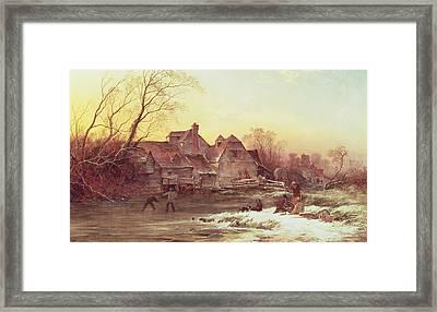 Winter Scene Framed Print by Philips Wouwermans or Wouwerman