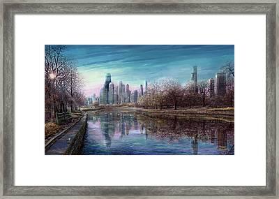 Winter Serenity Deep Framed Print by Doug Kreuger