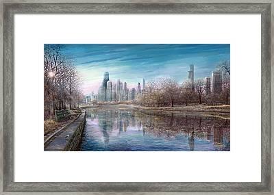 Winter Serenity Frost Framed Print by Doug Kreuger