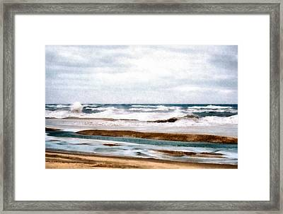 Winter Shore Framed Print by Michelle Calkins