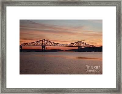 Winter Sky Over Tappan Zee Bridge Framed Print by John Telfer