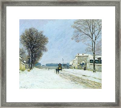 Winter, Snow Effect, 1876  Framed Print by Alfred Sisley