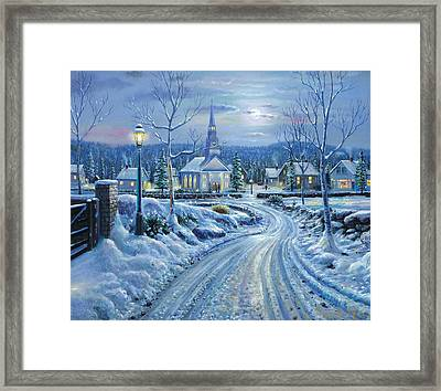 Winter Solitude Framed Print by Raymond Sipos