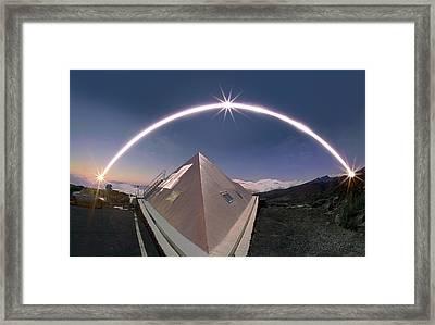 Winter Solstice Solar Trail Framed Print by Juan Carlos Casado (starryearth.com)