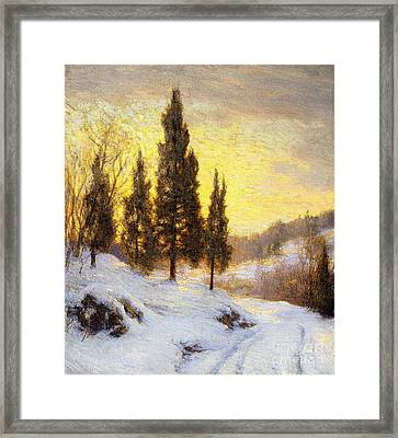 Winter Sundown Framed Print by Walter Launt Palmer