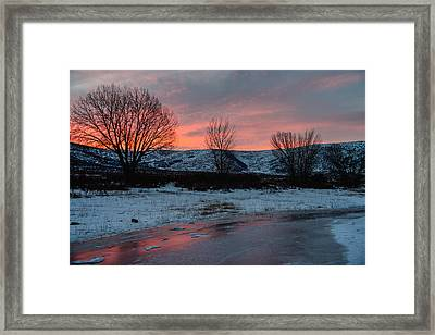 Winter Sunrise Framed Print by Chad Dutson