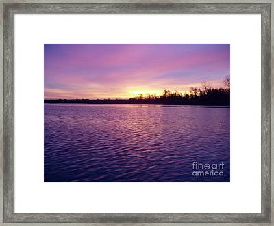 Winter Sunrise Framed Print by John Telfer
