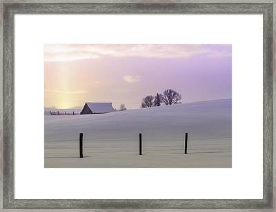 Winter Sunrise Framed Print by Teri Virbickis