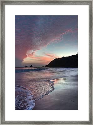 Winter Sunset Crescent Bay Framed Print by Cliff Wassmann