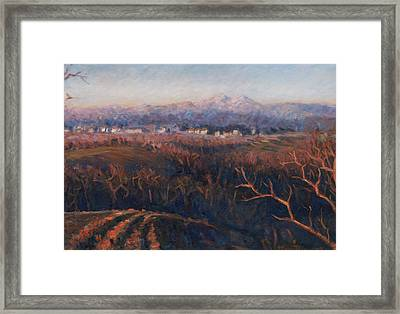 Winter Sunset In Brianza Framed Print by Marco Busoni