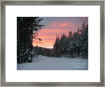 Winter Sunset Framed Print by Jeanette French