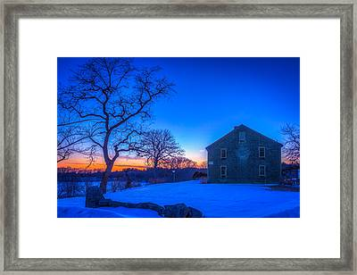 Winter Sunset Framed Print by Michael Petrizzo