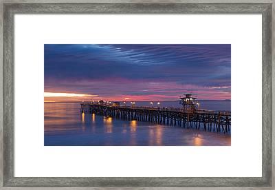 Winter Sunset San Clemente Framed Print by Cliff Wassmann
