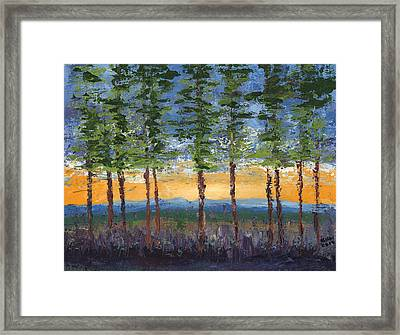 Winter Sunset Framed Print by William Killen