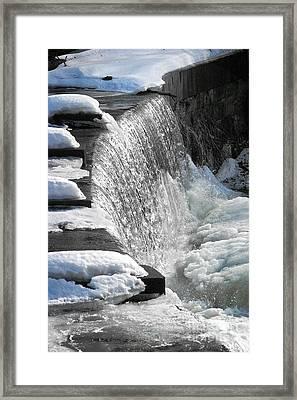 Winter Thaw Framed Print by Ellen Cotton