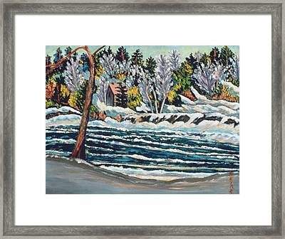 Winter Thaw Gatineau River Framed Print by Patricia Eyre