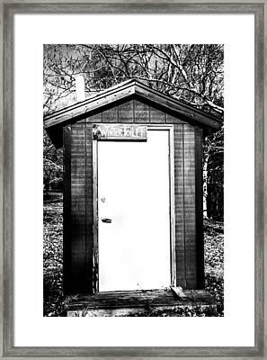 Winter Toilet Framed Print by Karol Livote