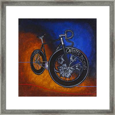 Winter Track Bicycle Framed Print by Mark Howard Jones