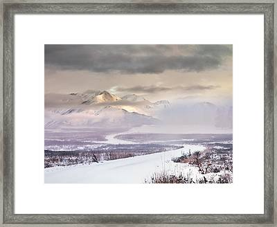Winter Travel Framed Print by Leland D Howard