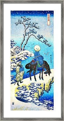 Winter Travelers 1890 Framed Print by Padre Art