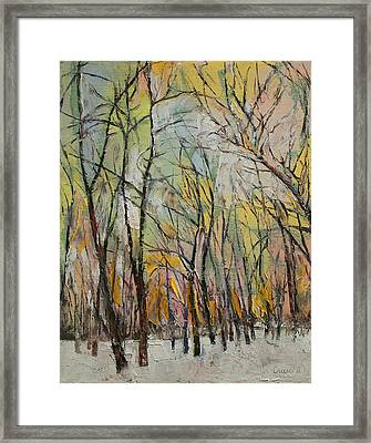 Winter Trees Framed Print by Michael Creese