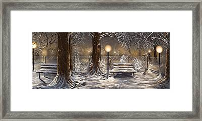 Winter Trilogy Collage Framed Print by Veronica Minozzi