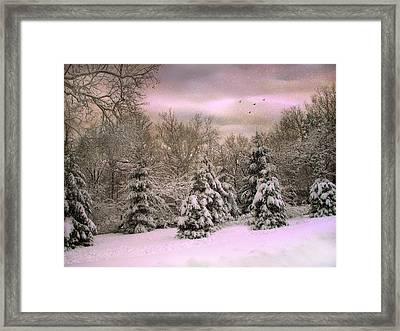 Winter Twilight Framed Print by Jessica Jenney