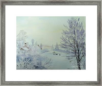 Winter Visitors Framed Print by Martin Howard