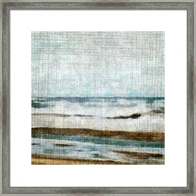 Winter Waves Framed Print by Michelle Calkins