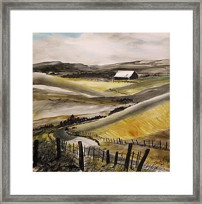 Winter Wheat Framed Print by John Williams