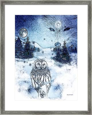 Winter White Framed Print by The Feathered Lady