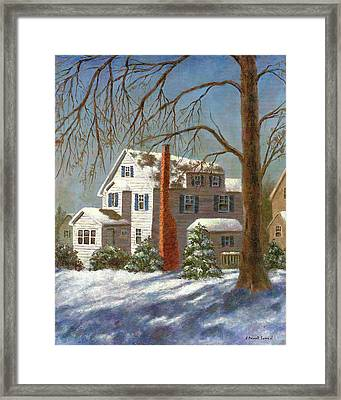 Winter White Framed Print by Susan Savad