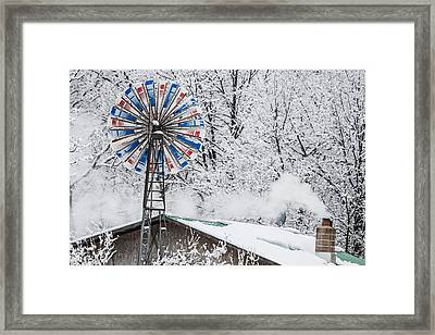 Winter Windmill Framed Print by Paul Freidlund
